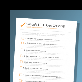 Checklist – Spec LED lighting like an expert